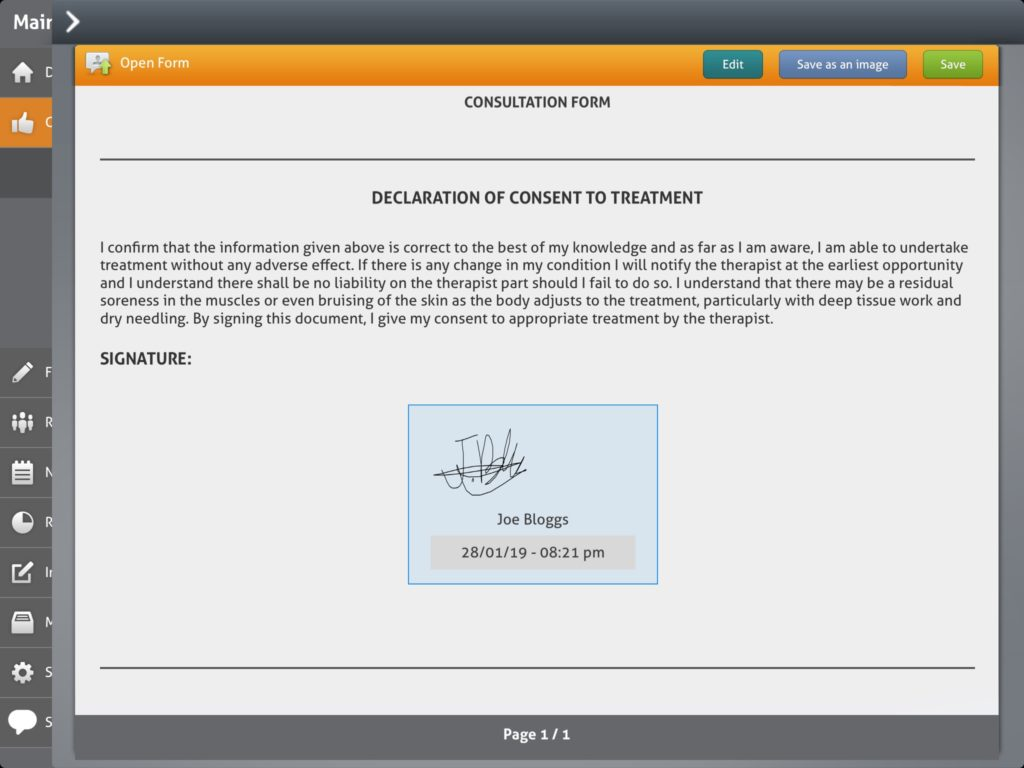 Electronic Signature Consultation Form